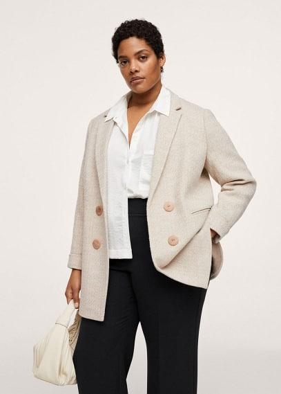 Женские пальто Mango (Манго) Пальто с контрастными пуговицами - Elia