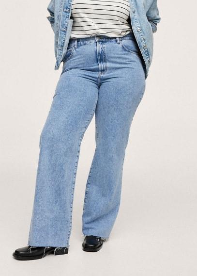 Женские джинсы Mango (Манго) Джинсы с завышенной талией Wideleg - Nora