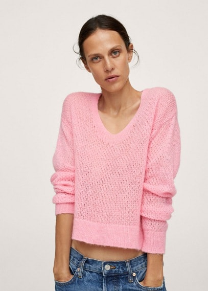 Джемпер Mango (Манго) Пуловер из трикотажа - Gery