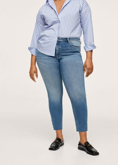 Женские джинсы Mango (Манго) Укороченные джинсы скинни Isa - Isa