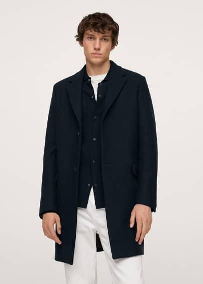 Мужские пальто Mango (Манго) Пальто из переработанной шерсти - Utah-i