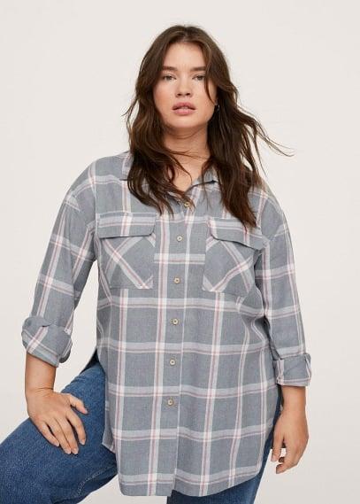Рубашка Mango (Манго) Клетчатая рубашка с карманами - Mia