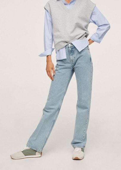 Женские джинсы Mango (Манго) Джинсы straight-fit из хлопка - Gala