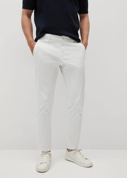 Мужские брюки Mango (Манго) Укороченные брюки-чинос tapered - Prato