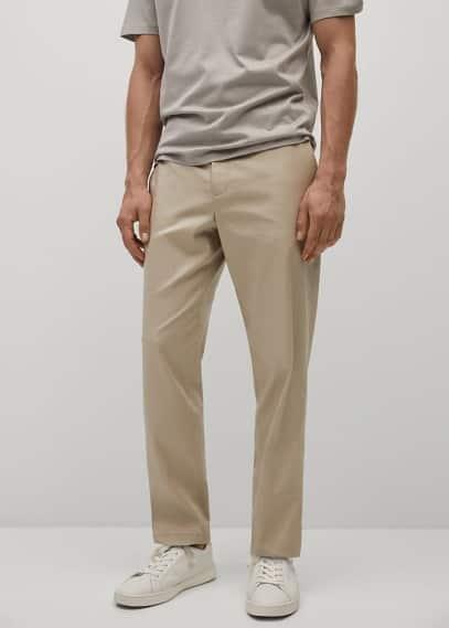 Мужские брюки Mango (Манго) Брюки slim-fit лиоцелл и лен  - Oliver