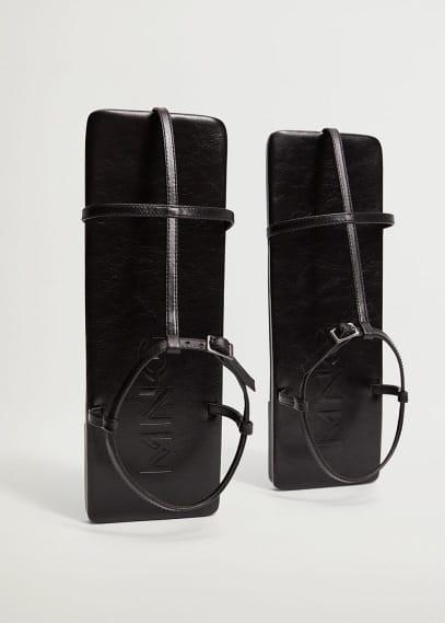 Женские ботинки Mango (Манго) Прямоугольные сандалии из кожи - Centro
