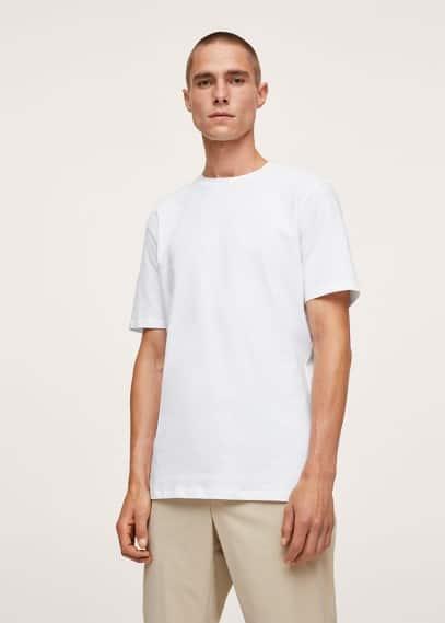 Футболка Mango (Манго) Хлопковая футболка стрейч - Strech