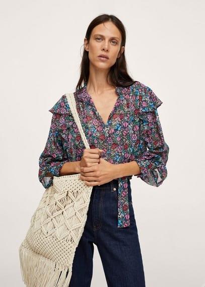 Блуза Mango (Манго) Блузка с цветочным принтом - Candy