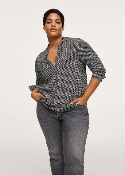 Рубашка Mango (Манго) Струящаяся блузка с принтом - Estrict1