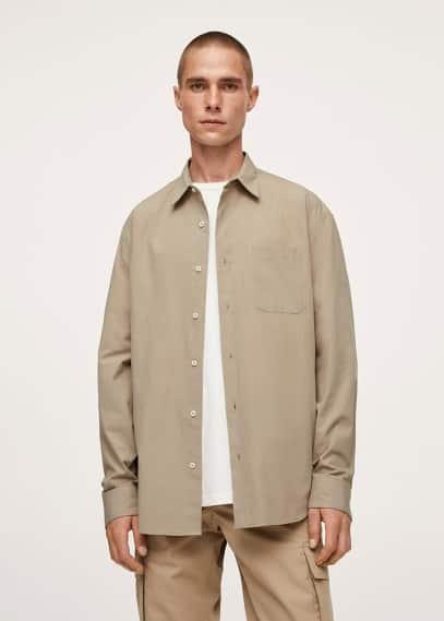 Рубашка Mango (Манго) Рубашка relaxed-fit из хлопка - Nestor