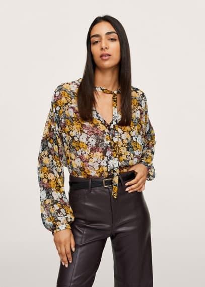 Блуза Mango (Манго) Полупрозрачная блузка с принтом - Juliet