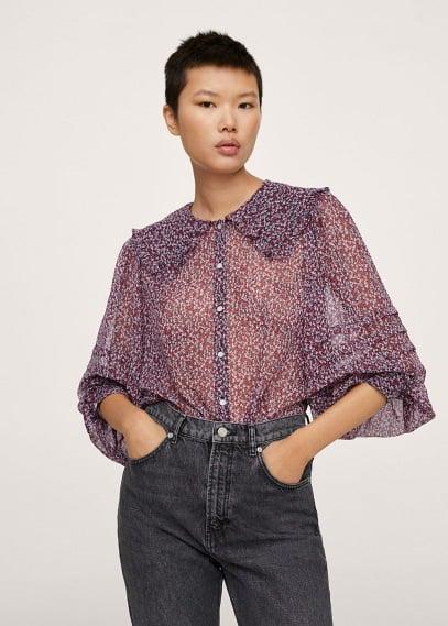 Блуза Mango (Манго) Блузка с круглым воротничком - Amelie
