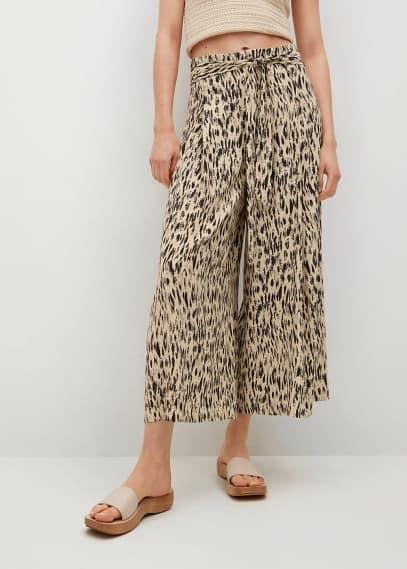 Женские широкие и расклешенные брюки Mango (Манго) Брюки Mango