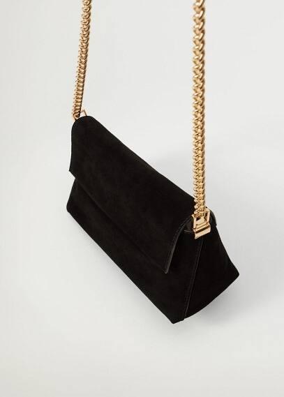 Сумка Mango (Манго) Кожаная сумка с цепочкой - Tossa