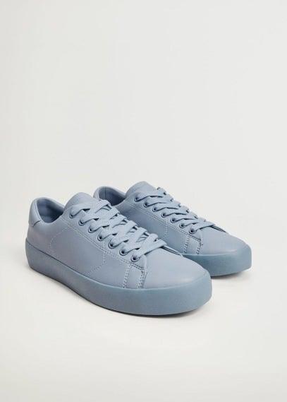 Мужские туфли Mango (Манго) Одноцветные кроссовки  - Blanca