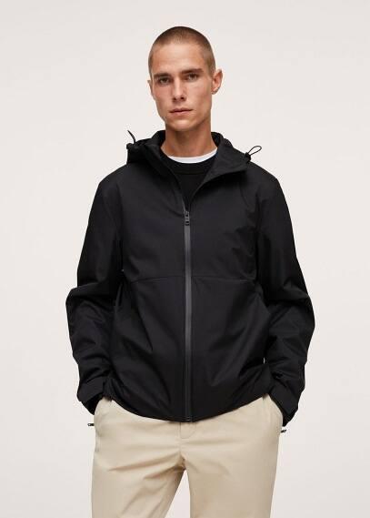 Куртка Mango (Манго) Непромокаемая куртка с капюшоном - Dinis