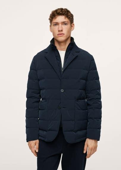 Куртка Mango (Манго) Стеганый непромокаемый жакет - Joen