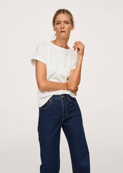Прямые джинсы Mango (Манго) Джинсы с завышенной талией Wideleg - Nora
