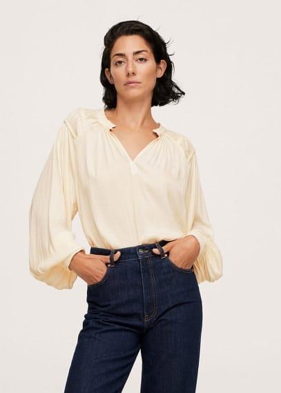 Блуза Mango (Манго) Блузка с рукавами-фонариками - Bril