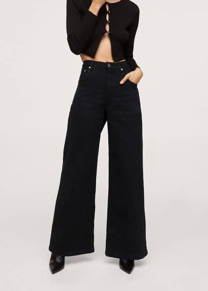 Широкие и расклешенные джинсы Mango (Манго) Джинсы Wideleg с завышенной талией - Fabiola