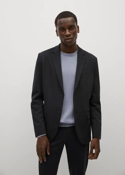 Пиджак Mango (Манго) Костюмный пиджак slim-fit из хлопка - Fabre