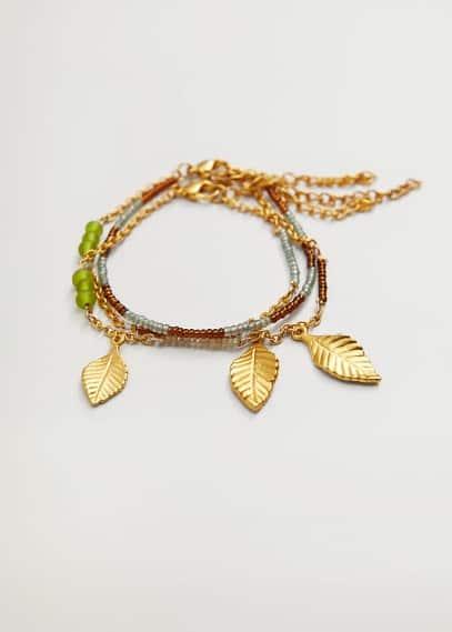 Комплект браслетов с цепочкой и шнуром - Arenal от Mango