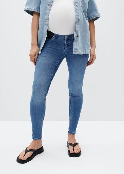 Женские джинсы Mango (Манго) Джинсы с посадкой на талии - Mternitb-i