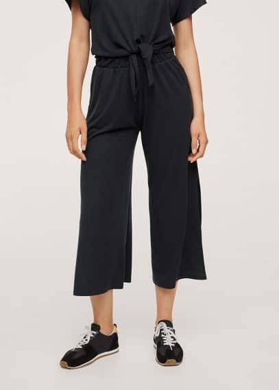 Женские брюки Mango (Манго) Брюки-кюлоты из лиоцелла - Ray-h