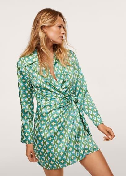 Платье Mango (Манго) Платье с геометрическим принтом - Quant