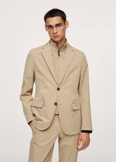 Пиджак Mango (Манго) Технологичный костюмный пиджак slim fit, можно хранить в сложенном виде - Como