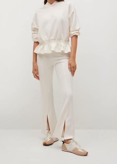 Женские брюки Mango (Манго) Брюки flare с разрезами - Mas-a