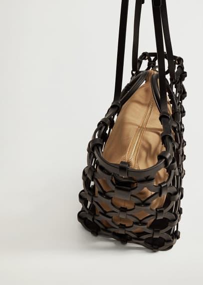 Сумка Mango (Манго) Сумка-корзина с геометрическим дизайном - Macia