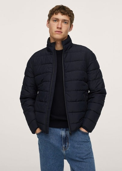 Куртка Mango (Манго) Стеганый ультралегкий анорак - Gorry