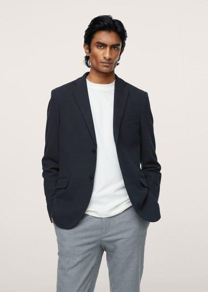 Пиджак Mango (Манго) Трикотажный пиджак из хлопка - Verner