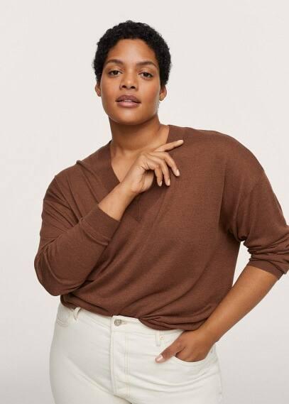 Джемпер Mango (Манго) Пуловер из трикотажа - Agora