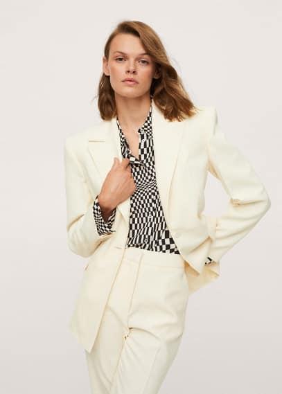 Жилет Mango (Манго) Приталенный пиджак с фактурной выделкой - Sidecar