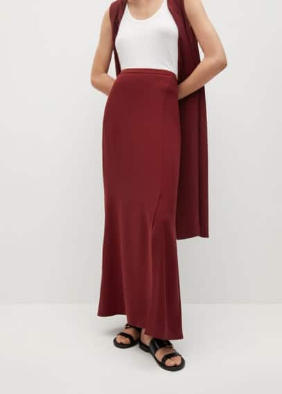 Юбка Mango (Манго) Длинная юбка с разрезом - Arp-a