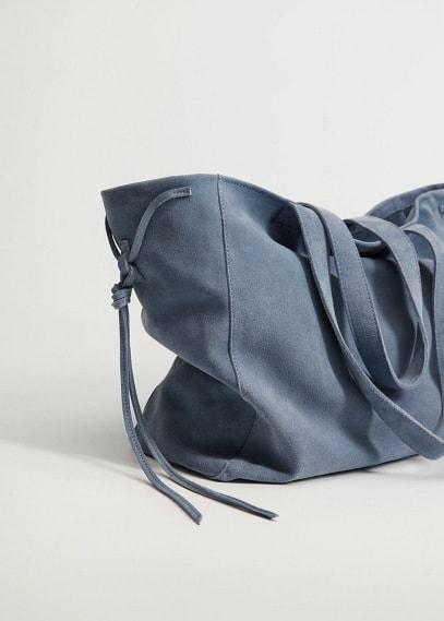 Кожаная сумка шоппер - Eva