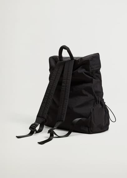 Сумка Mango (Манго) Рюкзак с боковыми карманами - Fruncido