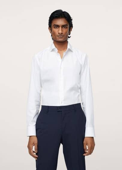 Рубашка Mango (Манго) Костюмная рубашка slim fit из хлопка - Emeritol