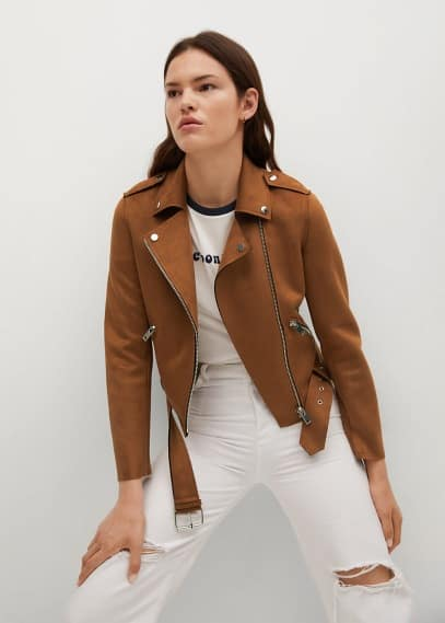 Кожаная куртка Mango (Манго) Куртка кожаная Mango