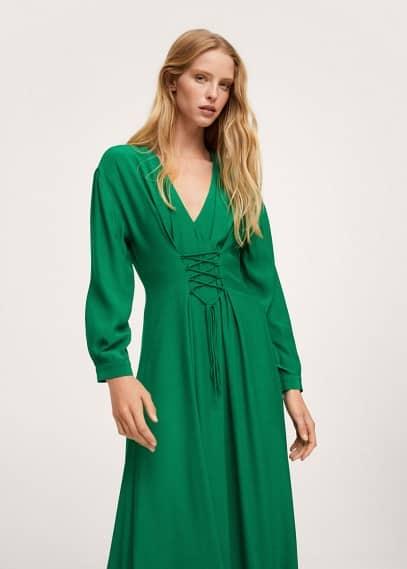 Платье Mango (Манго) Платье со шнуровкой-корсетом - Crosser