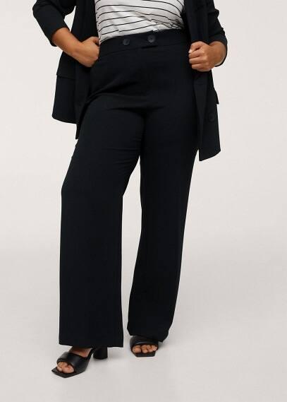 Женские брюки Mango (Манго) Струящиеся брюки wideleg  - Bimba1