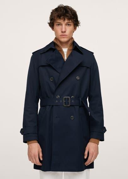 Мужские пальто Mango (Манго) Непромокаемый тренч из хлопка - Tango