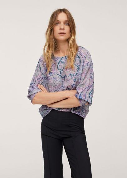 Блуза Mango (Манго) Блузка с принтом пейсли - Lamons