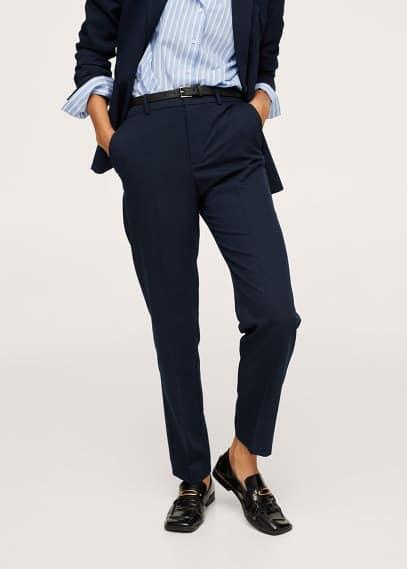 Женские классические брюки Mango (Манго) Костюмные брюки с ремнем - Boreal