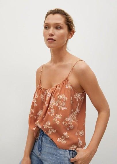 Блуза Mango (Манго) Топ с цветочным принтом - Niki