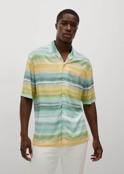 Рубашка Mango (Манго) Струящаяся рубашка с принтом - Maxime