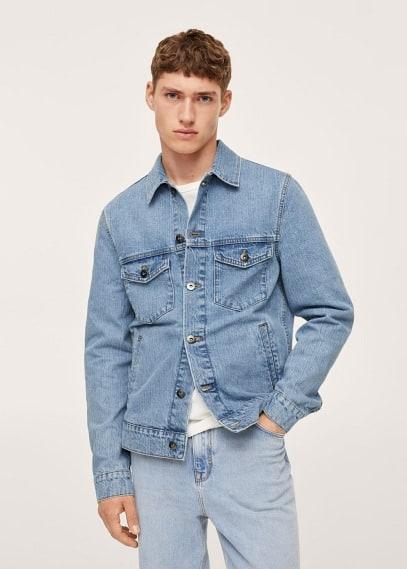 Куртка Mango (Манго) Джинсовая куртка среднего тона - Ryan