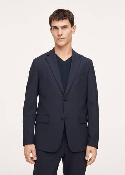 Пиджак Mango (Манго) Костюмный пиджак slim fit из шерсти - Breda